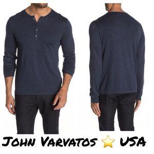 John Varvatos Star USA Long Sleeve Henley Sweater